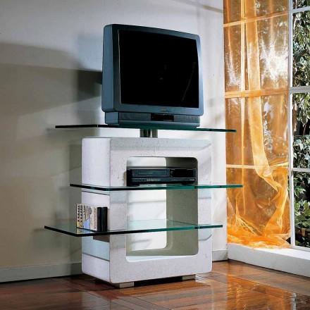 Stand modular de televiziune Vicenza Stone și cristal Agnes