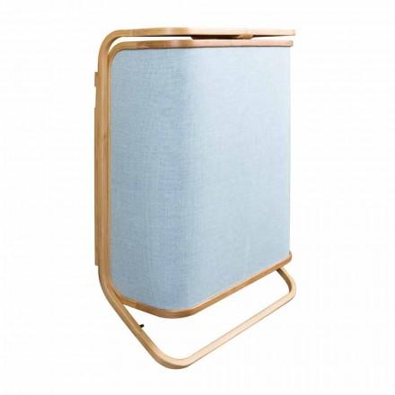 Montat pe perete coș de spălat modern în Valenza Navy și țesătură din bambus