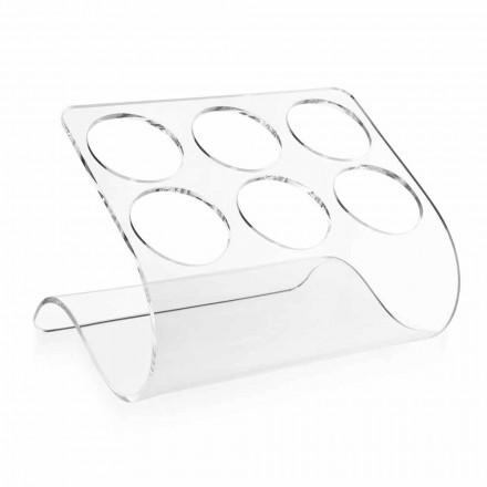Suport pentru sticle gratuit pentru 6 sticle în plexiglas transparent - Tanatin