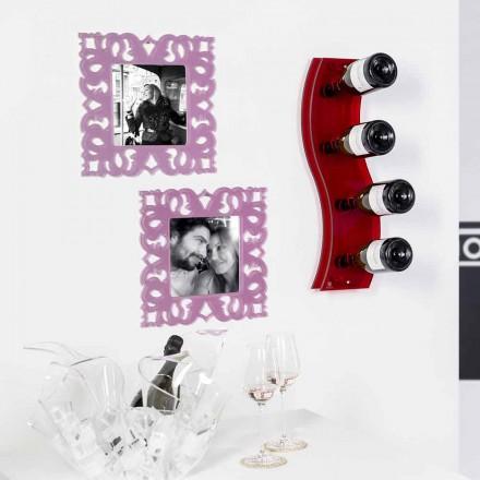 Sticlă de perete roșu Serry L26,5xH60xP9cm mici, design modern