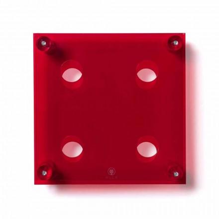 Sticlă de moderne de perete roșu Amin mici L30xH30xP13,6cm