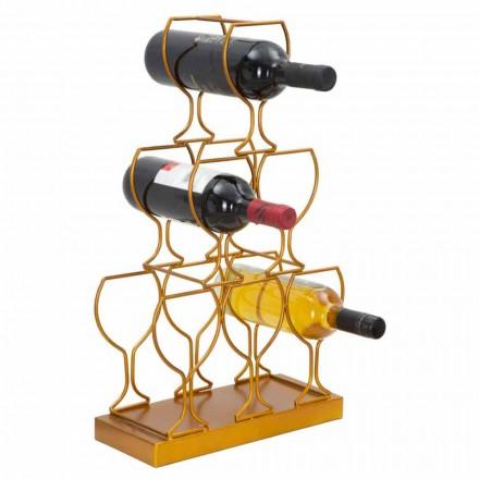 Suport pentru sticlă sau masă 6 sticle de fier, design modern - Brody