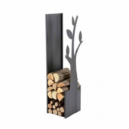 Suport pentru lemn de foc interior din oțel pentru șemineu cu design modern - Maestrale1