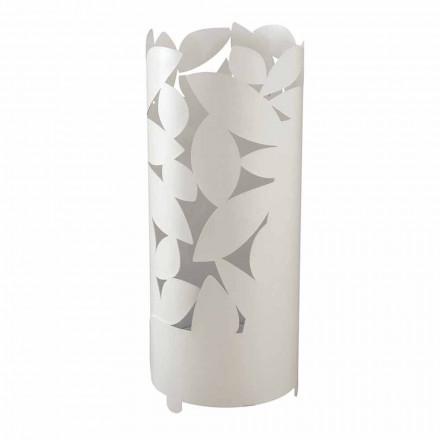 Stand cu umbrelă de design cu siluete cu frunze de fier realizate în Italia - Piumotto