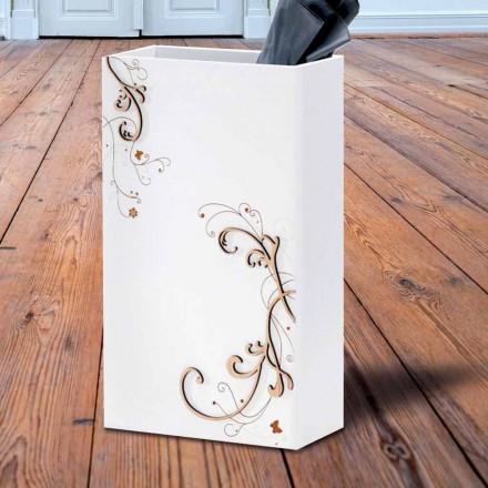 Umbrelă modernă Stand în lemn închis sau alb cu decorațiuni - Poezie