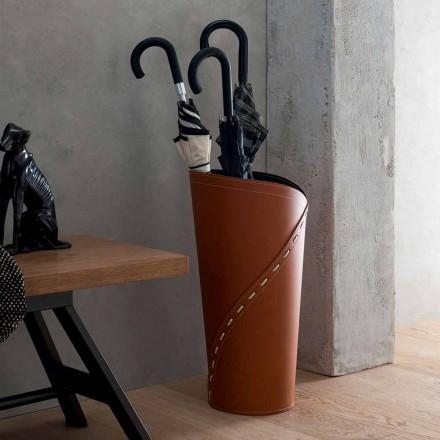 Suport umbrelă modernă din piele regenerată Katrina, fabricată în Italia