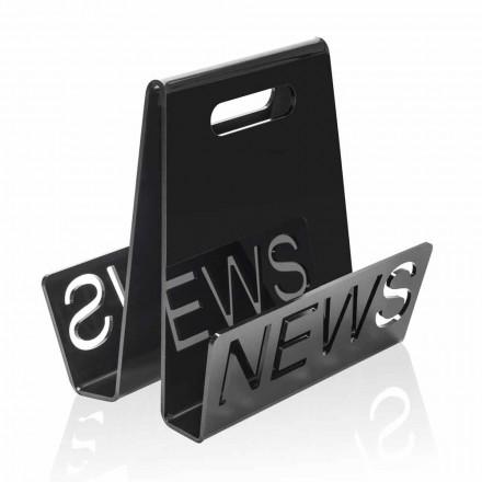 Revista de design de plexiglas negru sau transparent, realizată în Italia - Omar