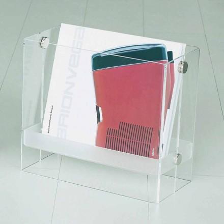 Revista de design modern în clar metacrilat Tanko