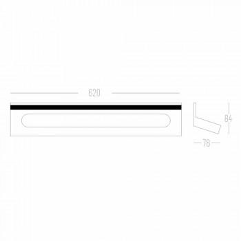 Aduceți-l pe peretele băii Corian alb sau cu inserție neagră de 46 sau 62 cm - Elono