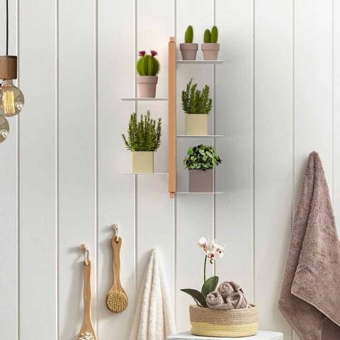 Zia Flora suport vertical suspendat de flori făcute în Italia lemn de design