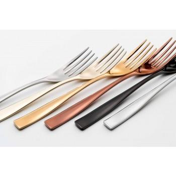 24 de tacâmuri cu design de lux din oțel sablat sau lustruit colorat - timid