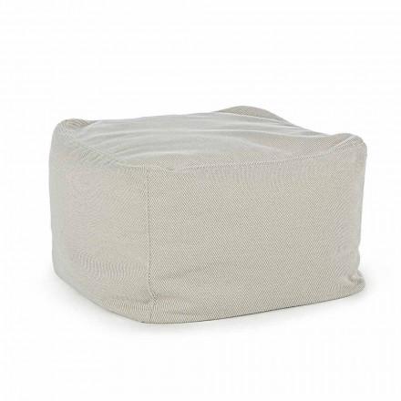 Puf pătrat în aer liber, acoperit cu țesătură hidrofugă, Homemotion - Lydia
