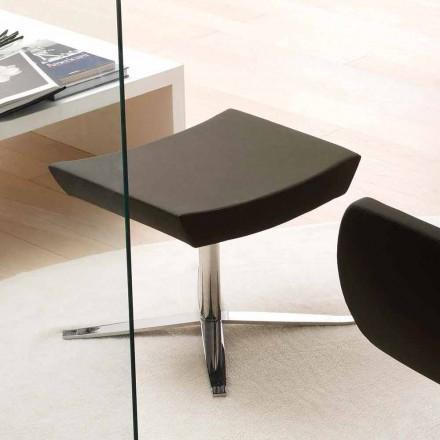 Birou modern de birou în piele ecologică și aluminiu - Clio
