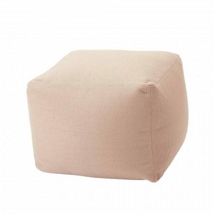 Puf moale pătrat pentru interior și exterior în țesături diverse culori - Naemi