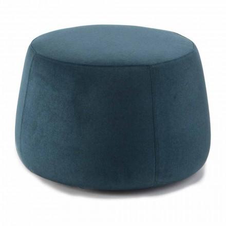 Puf rotund moale pentru sufragerie în catifea colorată 3 dimensiuni - Evelyne