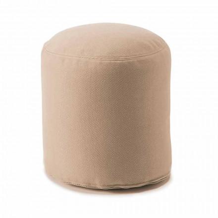 Puf rotund moale pentru camera de zi interioară sau exterioară în țesătură colorată - Naemi