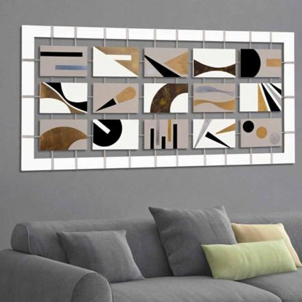 Cadru abstract cu cincisprezece panouri suspendate pe corzi Craig