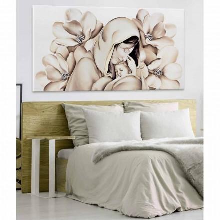 Panou modern de design în relief pe panza fabricat în Italia Sole