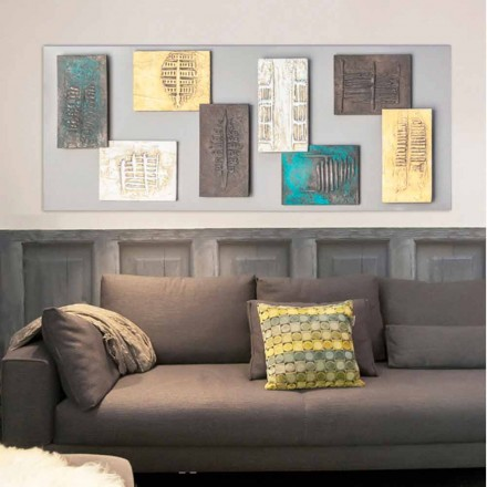 Pictura moderna cu panza gri-porumbel si opt elemente de Andrew