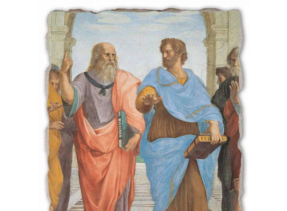 """Raffaello Sanzio """"Scoala din Atena"""" parte. Platon și Artistotele"""
