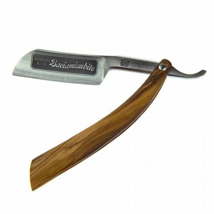Brici drept cu lamă de oțel și Coramella Made in Italy - Mello