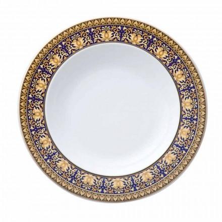Rosenthal Versace Medusa albastru plate design modern porțelan fund