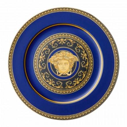 Rosenthal Versace Medusa Albastru de porțelan de design înlocuitor