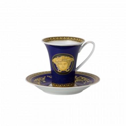 Rosenthal Versace Medusa albastru Cupa de mare porțelan de design de cafea