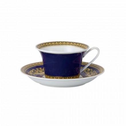 Rosenthal Versace Medusa albastru cane de ceai moderne de design porțelan