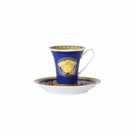 ceașcă Rosenthal Versace Medusa Albastru de cafea porțelan de designer
