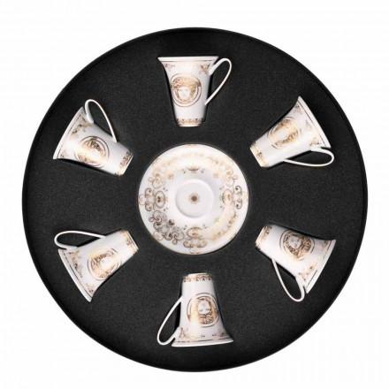 Rosenthal Versace Medusa Gala de Aur cesti de espresso set 6pz porțelan
