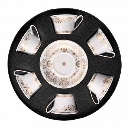 Rosenthal Versace Medusa Gala de Aur cesti de ceai set de porțelan 6 buc