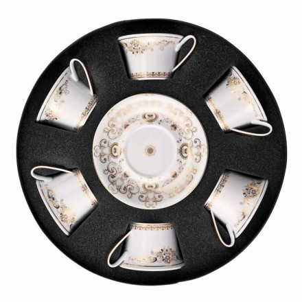 Rosenthal Versace Medusa Gala Cupe de porțelan de ceai 6 bucăți