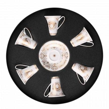 Rosenthal Versace Medusa Gala 6 septembrie espresso piese cești de porțelan