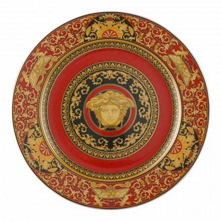 Rosenthal Versace Medusa Red plate Substituent 30cm porțelan