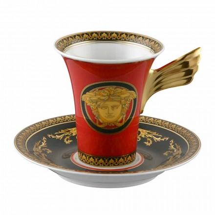 Rosenthal Versace Medusa ceașcă roșu de cafea din porțelan de mare de design