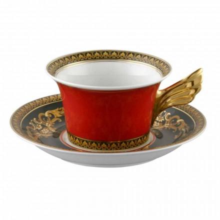 Rosenthal Versace Medusa Cupa Red design modern de ceai din porțelan