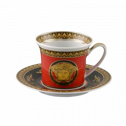 Rosenthal Versace Medusa Red Espresso ceașcă de porțelan de design