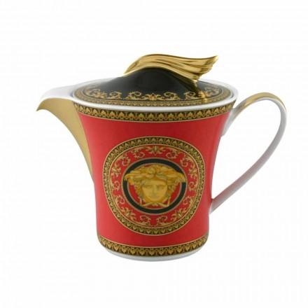 Rosenthal Versace Medusa Red 6pax ceainic de porțelan cu capac