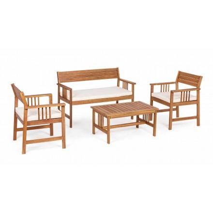 Complementele Lounge 4 în proiectarea lemnului de grădină în lemn de salcâm - Roxen
