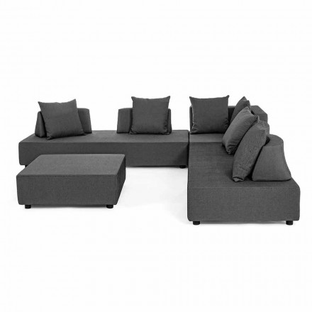 Lounge în colț exterior de design modern în țesătură de casă - Benito