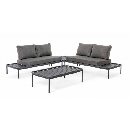 Lounge în aer liber modern în casă de aluminiu și antracit - Palmira