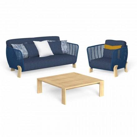 Lounge în grădină cu canapea, fotoliu și măsuță de lux - Argo by Talenti