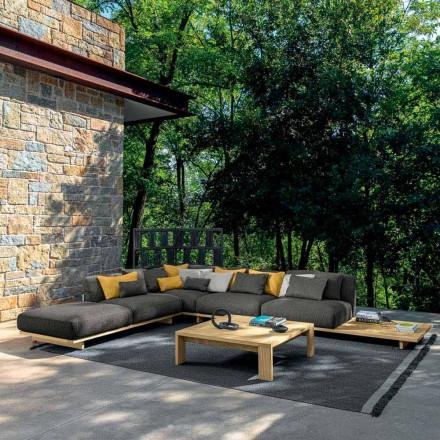 Lounge de grădină cu puf și măsuță de cafea din lemn de înaltă calitate - Argo by Talenti