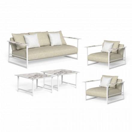 Lounge de grădină de lux, canapea, fotolii și mese de cafea - Riviera by Talenti
