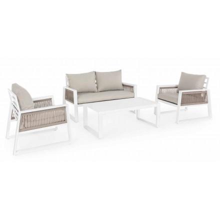 Lounge de grădină din aluminiu cu design alb sau negru - duș cu ploaie