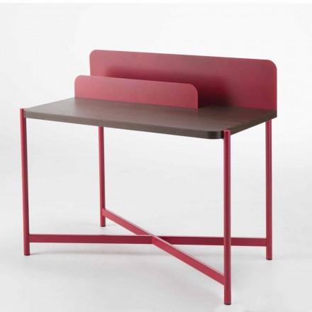 Birou modern din metal colorat și lemn de stejar de design italian - Nadin