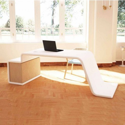 Birou de birou cu sertare de lemn din Italia, Terralba