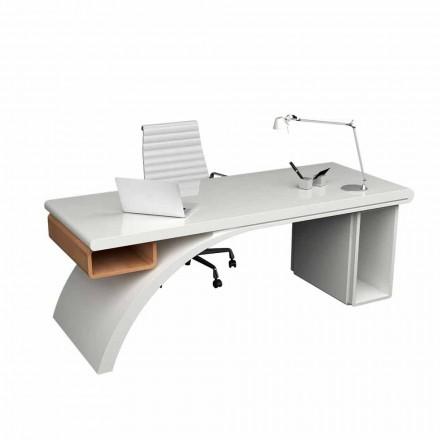 Birou de birou din lemn și Solid Surface Bridge, realizat în Italia