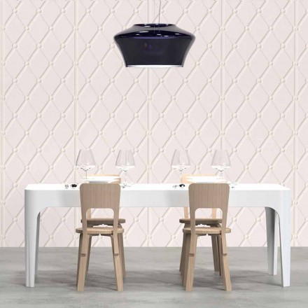 Rectangular birou / masă de sufragerie, design modern, Merlot